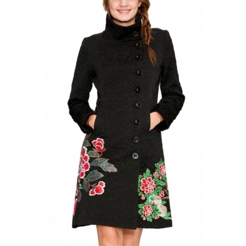 Пальто с вышивкой фото цена 70