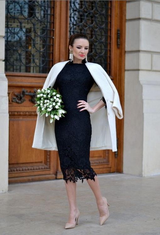Вечернее платье с пальто фото