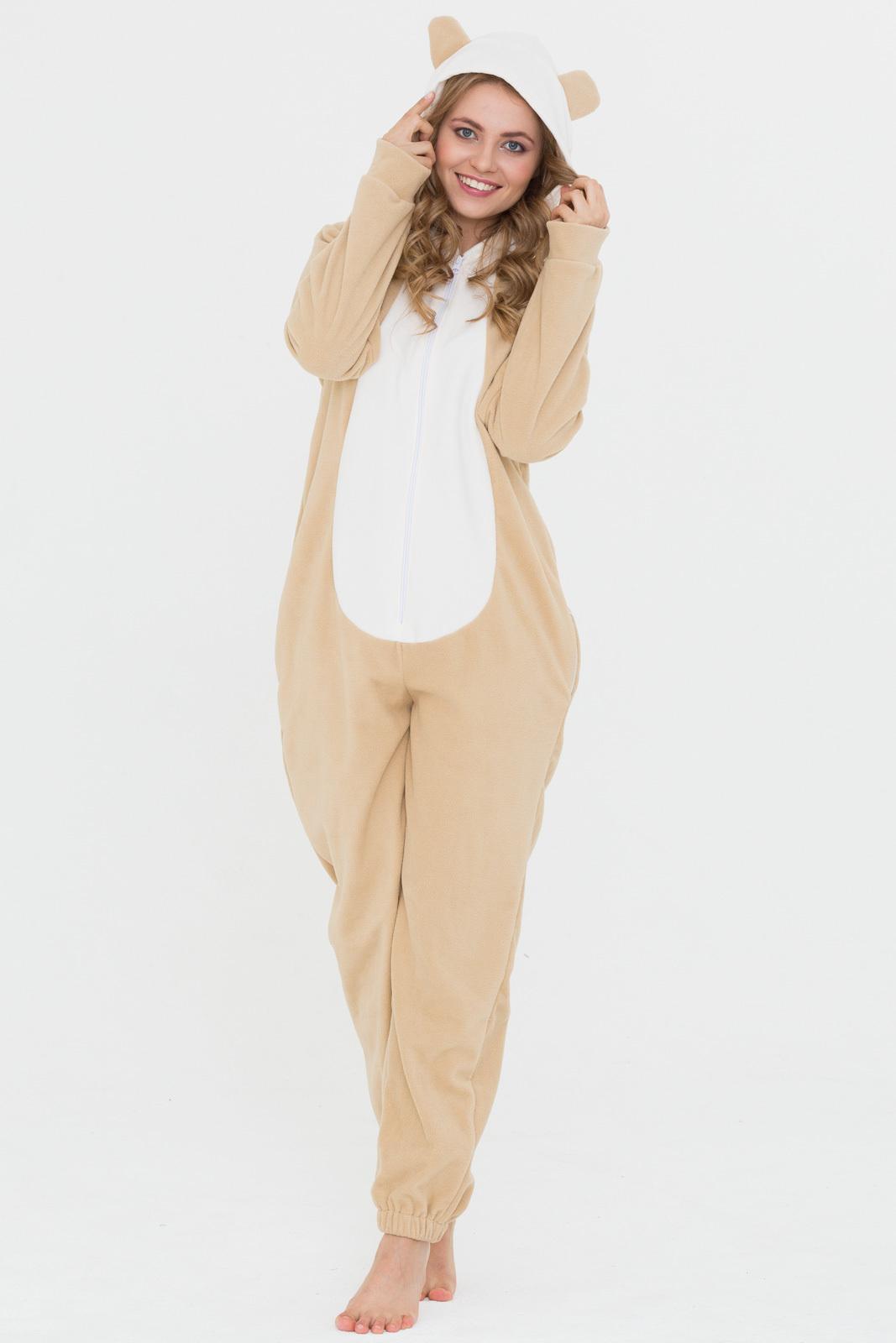 Пижама-комбинезон с капюшоном и ушками 21614c44ce29b