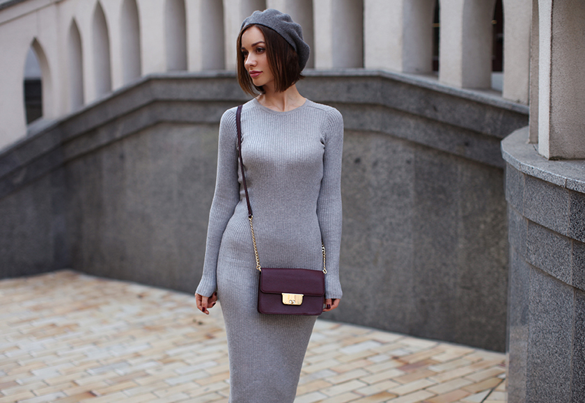 Платье Лапша С Кожаной Курткой Кроссовками