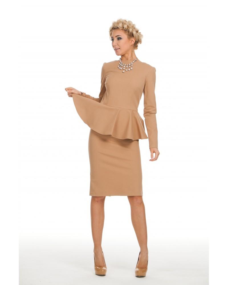 Купить Платье С Баской В Интернет Магазине