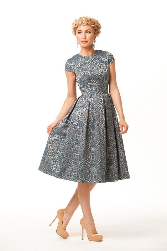 Платье из жаккардовой ткани своими руками