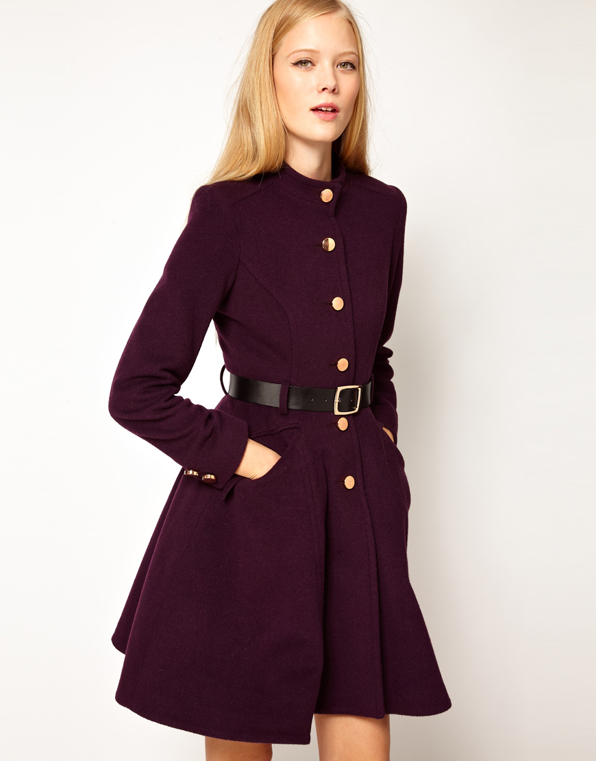Выкройка женское расклешенное пальто