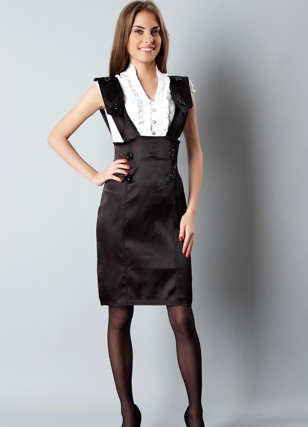 6f77945c700 Черный сарафан (35 фото)  с чем носить