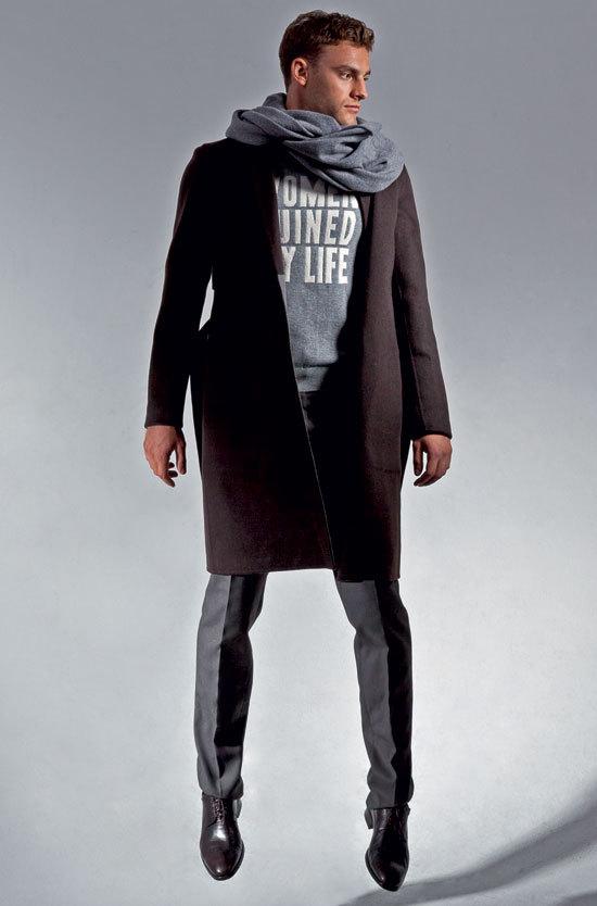 dfaa66cee87 С чем носить мужское пальто (51 фото)  пальто-бушлат