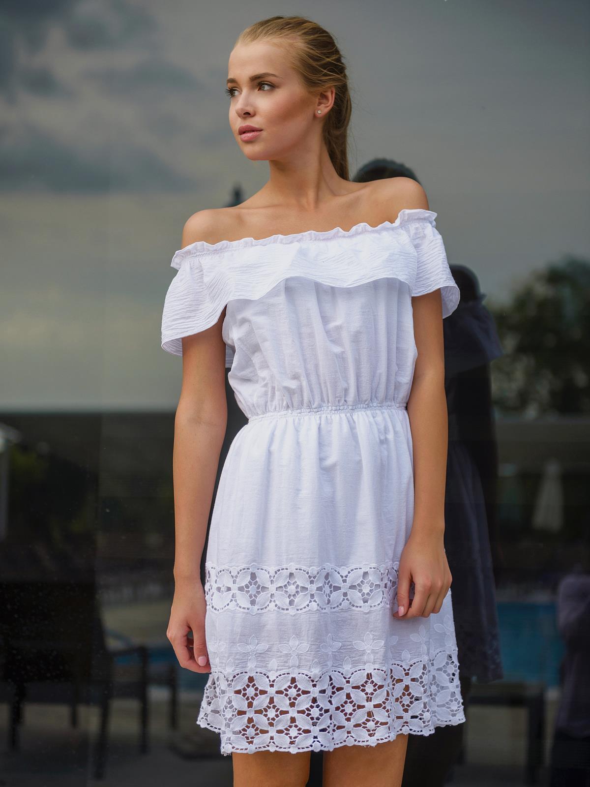 Платье сарафан открытые плечи
