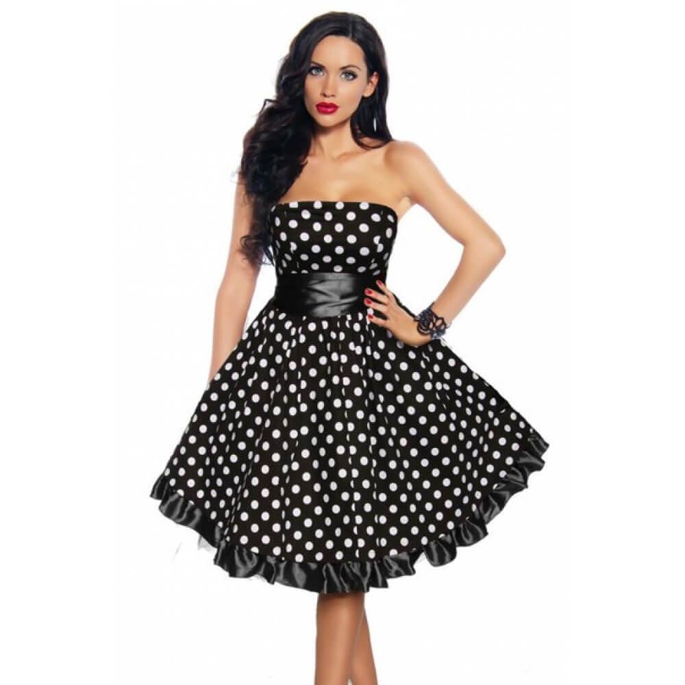 Платья и костюмы в горошек фото