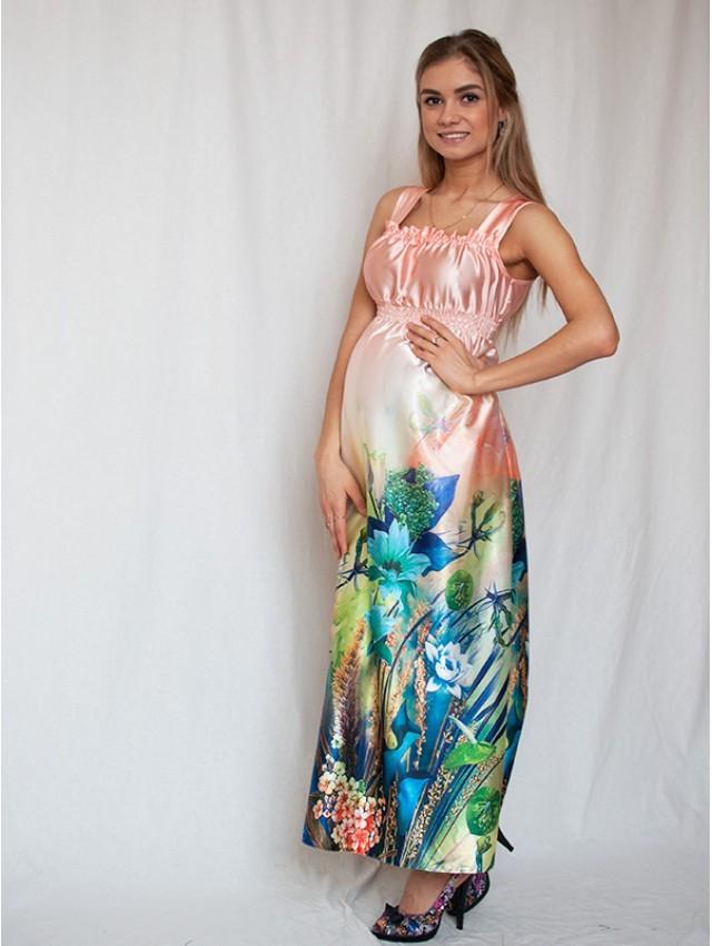 Платья для беременных шелковые 452
