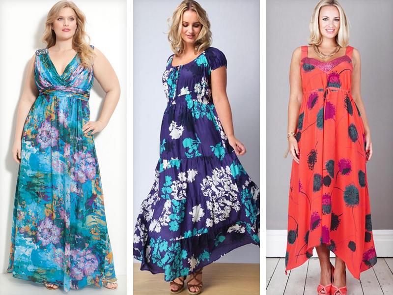 Фото летних платьев и сарафанов для полных девушек