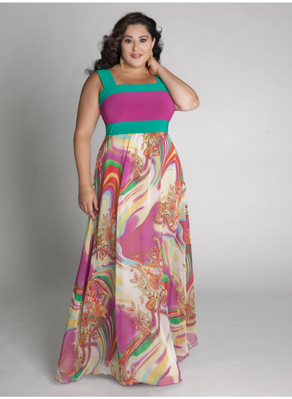 Фото платьев летних для полных
