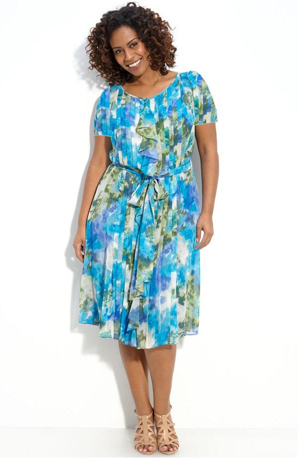 Как сшить летнее платье из для полных 884
