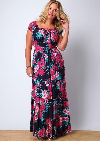 Летние платья и сарафаны для полных женщин фото с выкройками