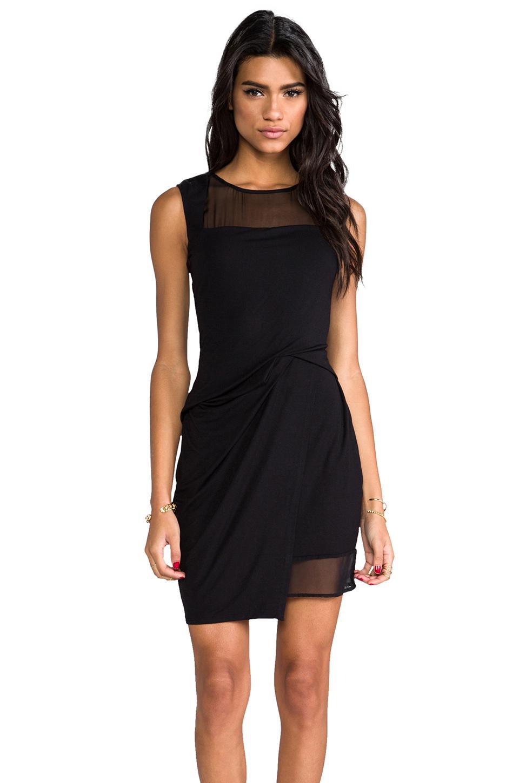 Черные платья из шелка