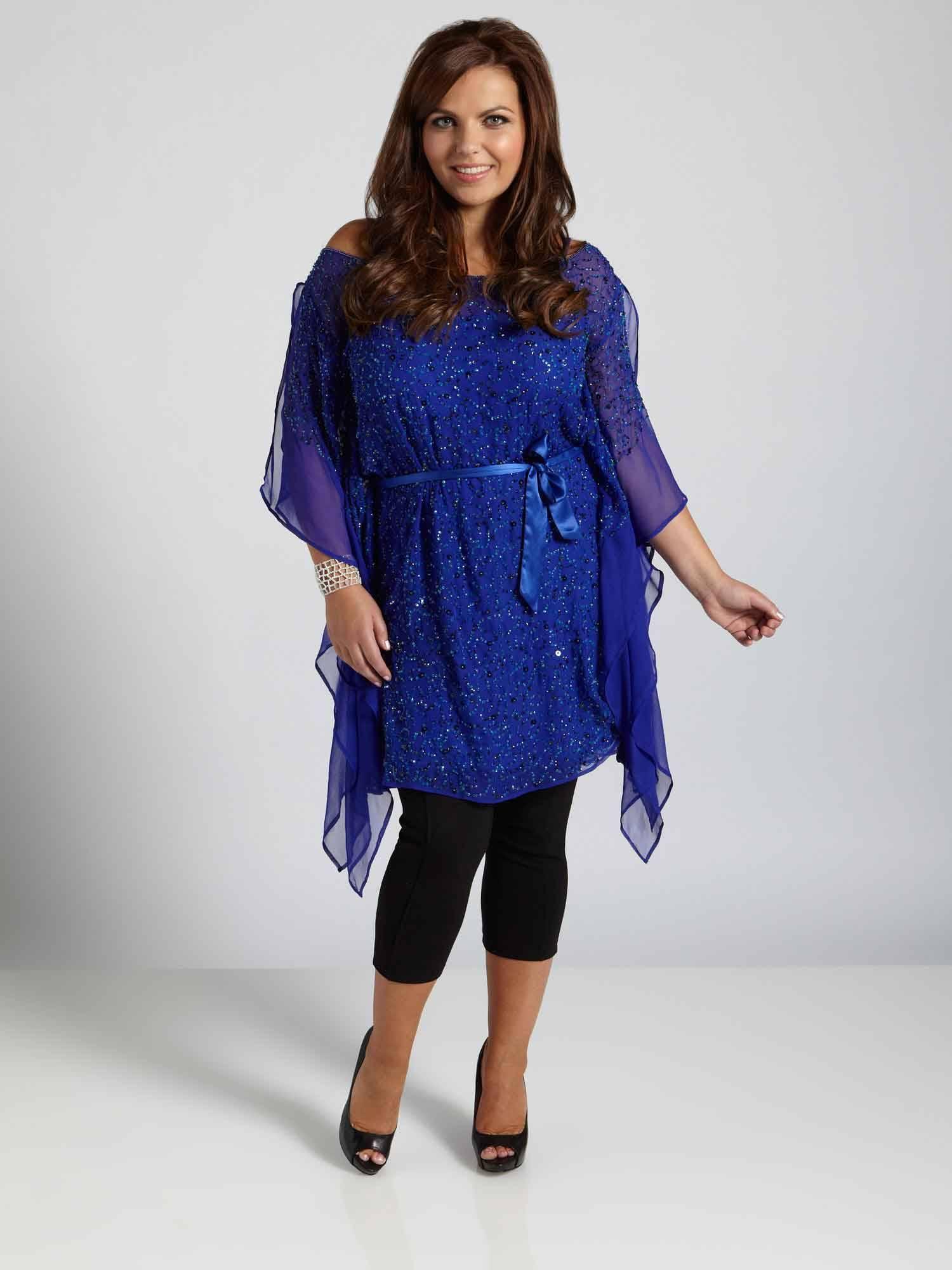 Купить платья туники для полных женщин