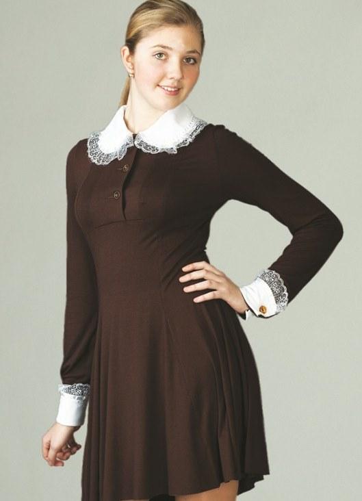 Фото школьное платье ссср