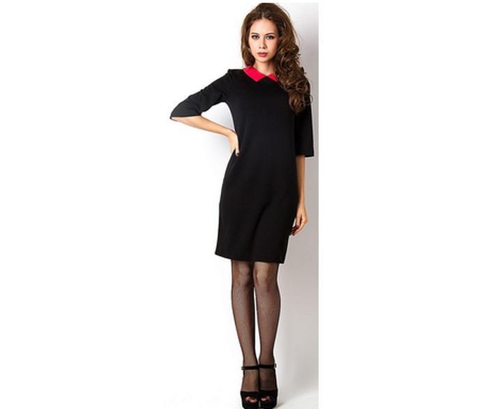 Школьное черное платье 198