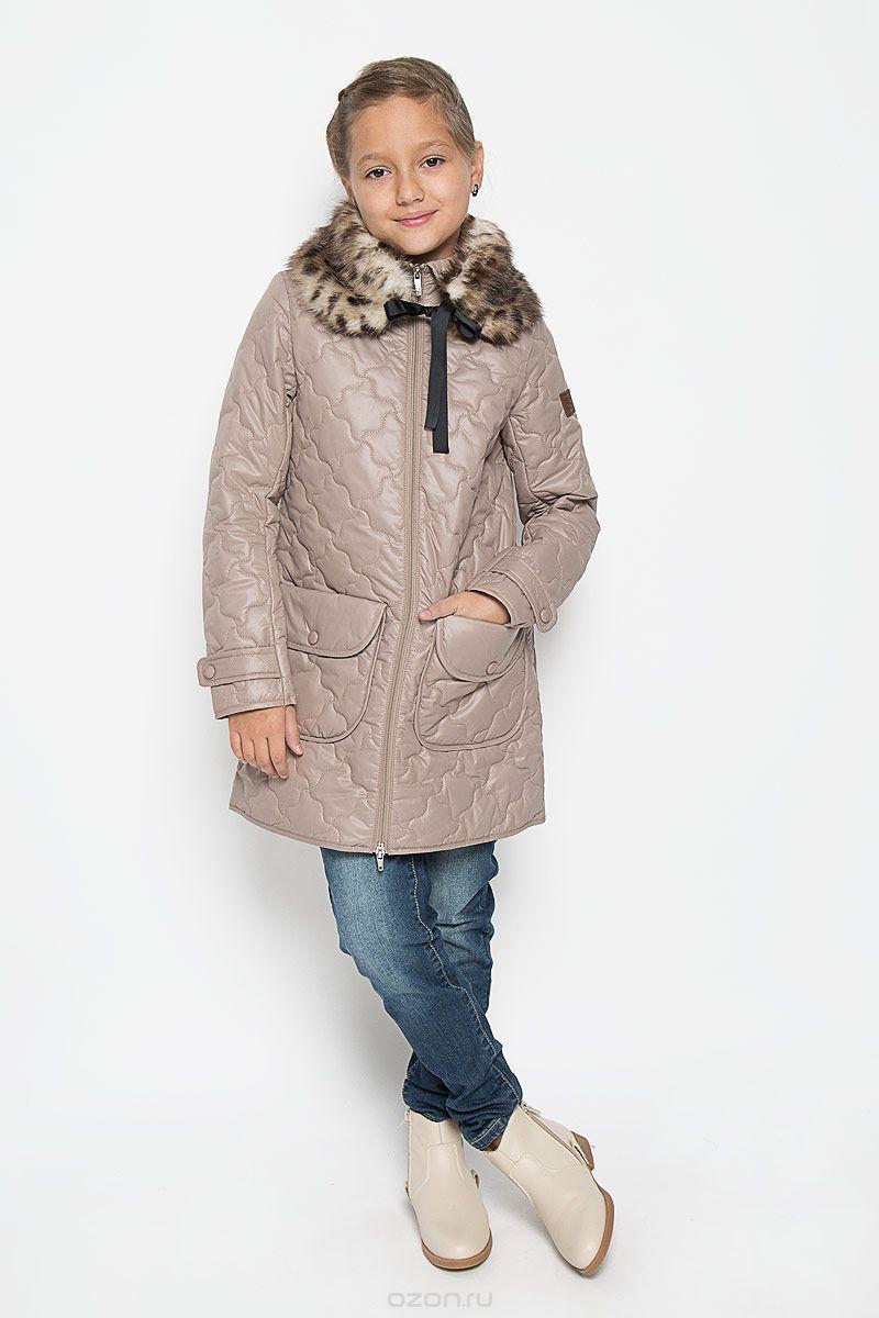 4591a5ce29b Стеганое пальто для девочки  бежевое
