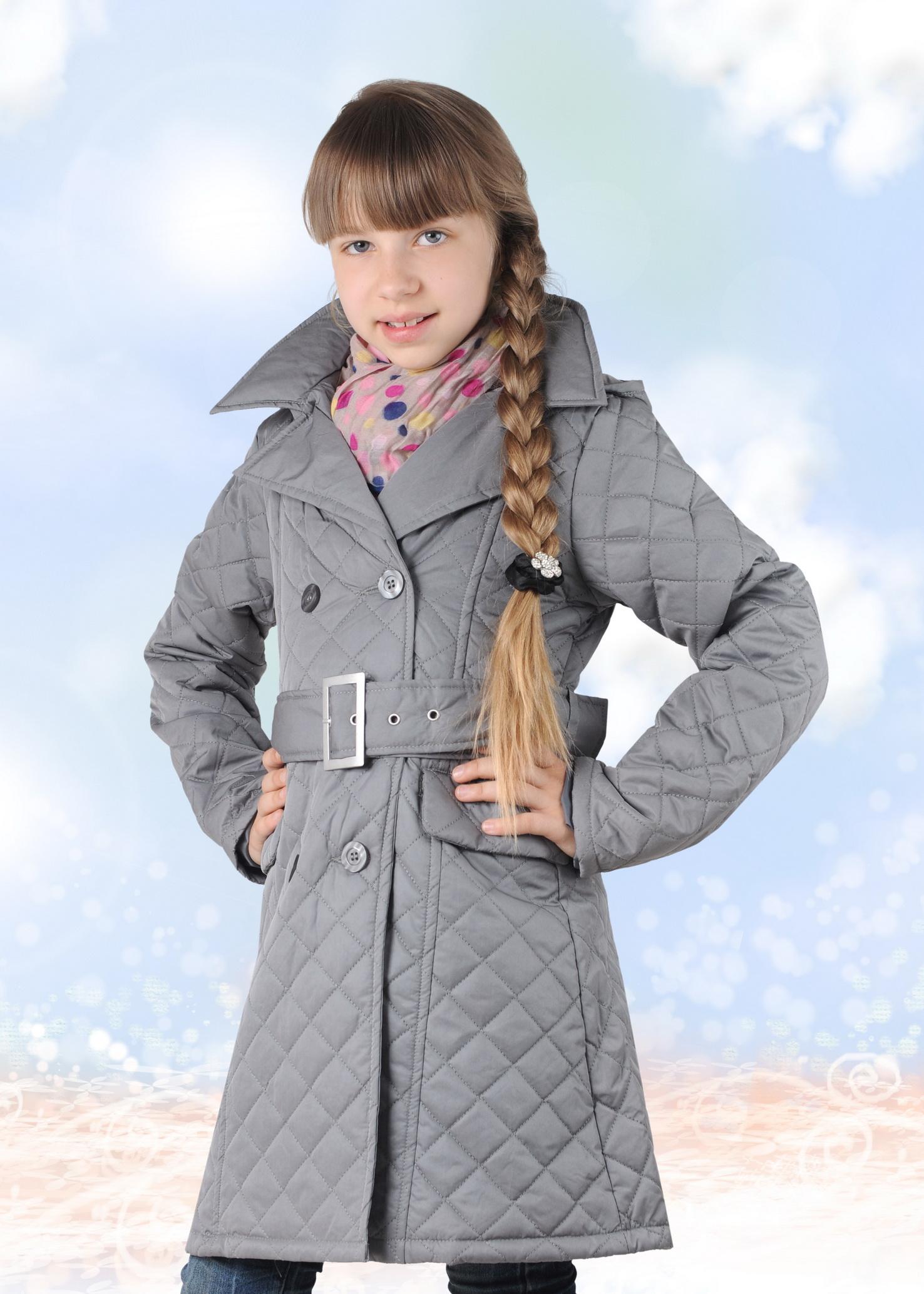 8cb42aa94ef4 Стеганое пальто для девочки  бежевое, на синтепоне