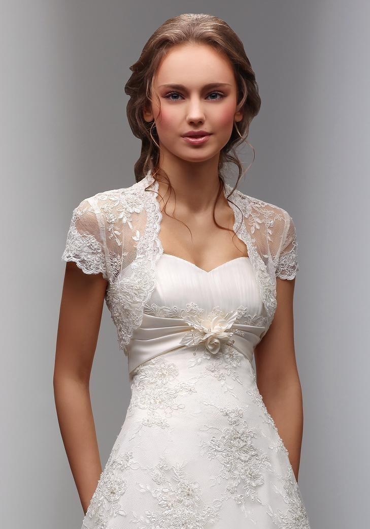 Кружевная накидка на свадебное платье