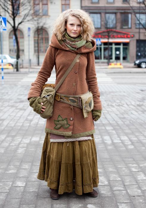 Платье бохо зима