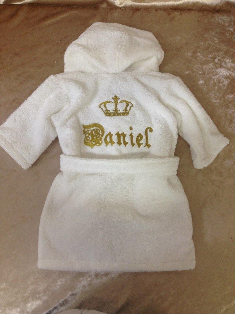 Детский халат с вышивкой