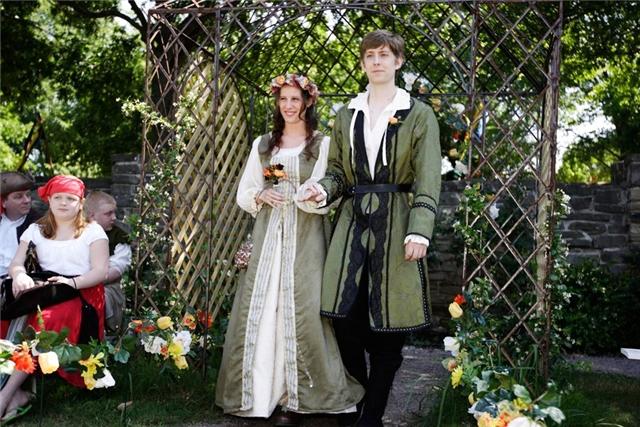 английский народный костюм женский