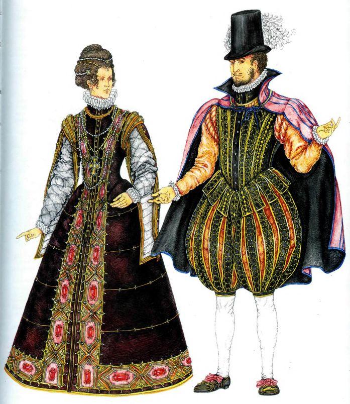 Женский национальный костюм испании