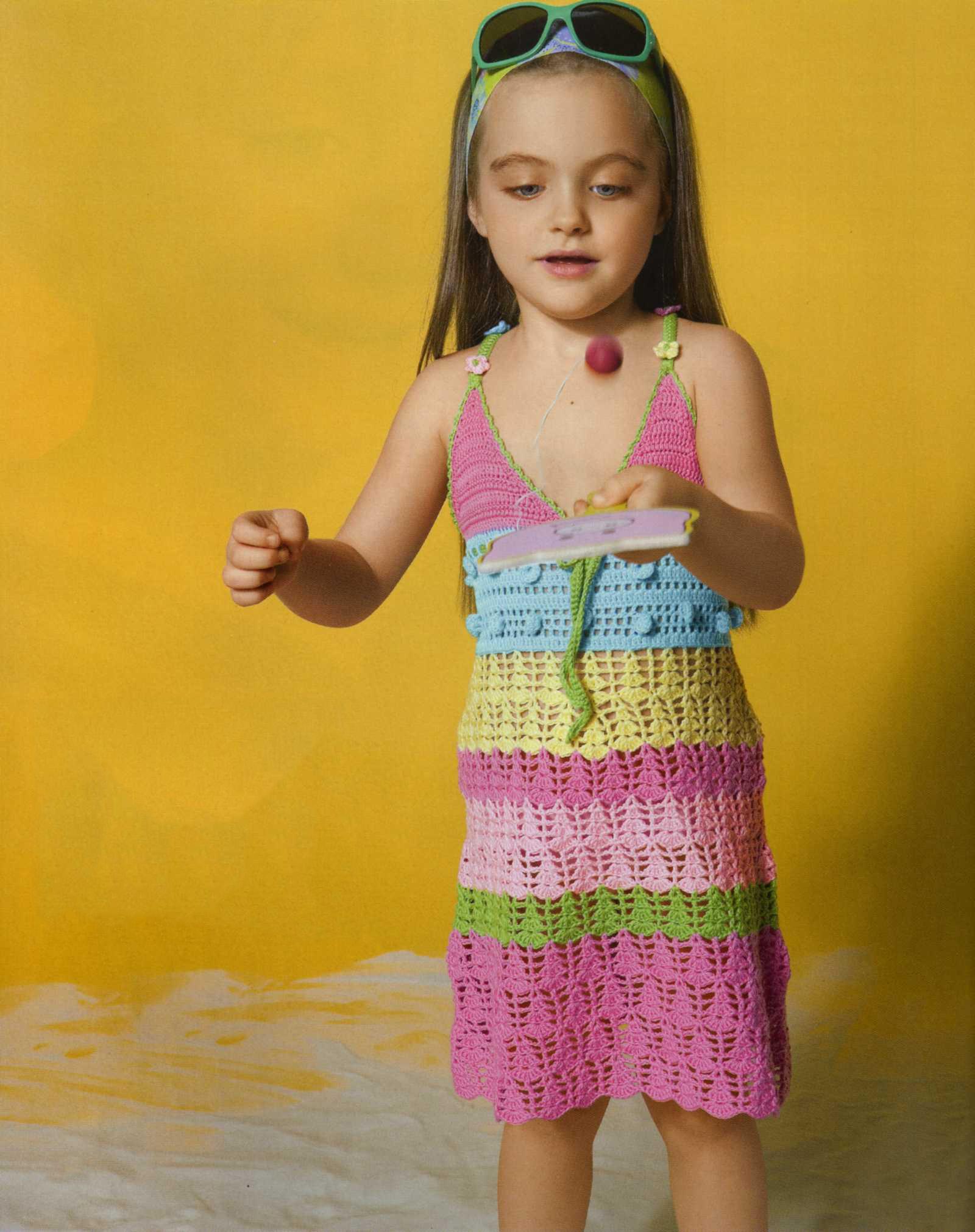 Вязание крючком на девочек сарафаны