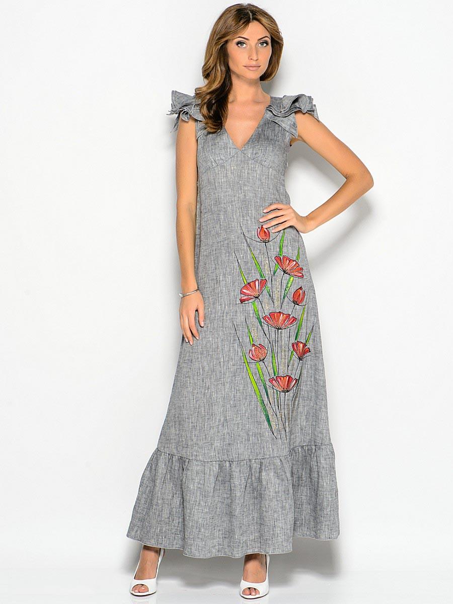 Платья и сарафаны из льна для полных