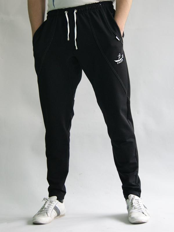 Мужские спортивные штаны (124 фото)  трикотажные, с манжетами, с резинкой,  обтягивающие f494b0f7957