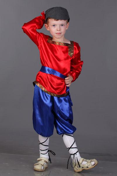 Детский русский народный костюм для мальчика и девочки