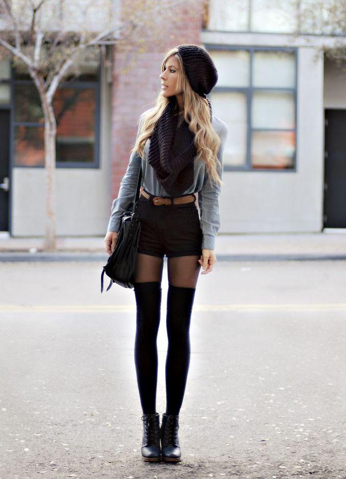 фото чёрные шорты