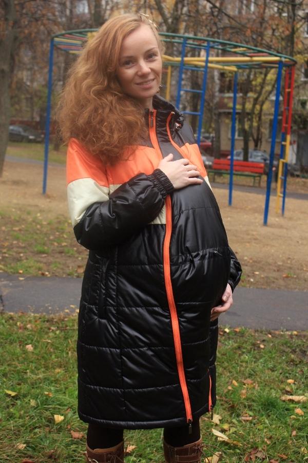 Как сделать вставку на куртку для беременных 77