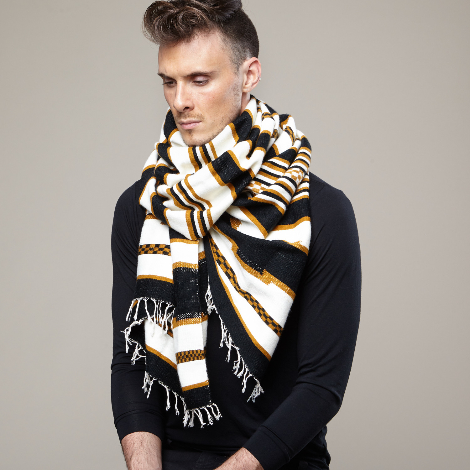 How to tie a scarf men fashion 82