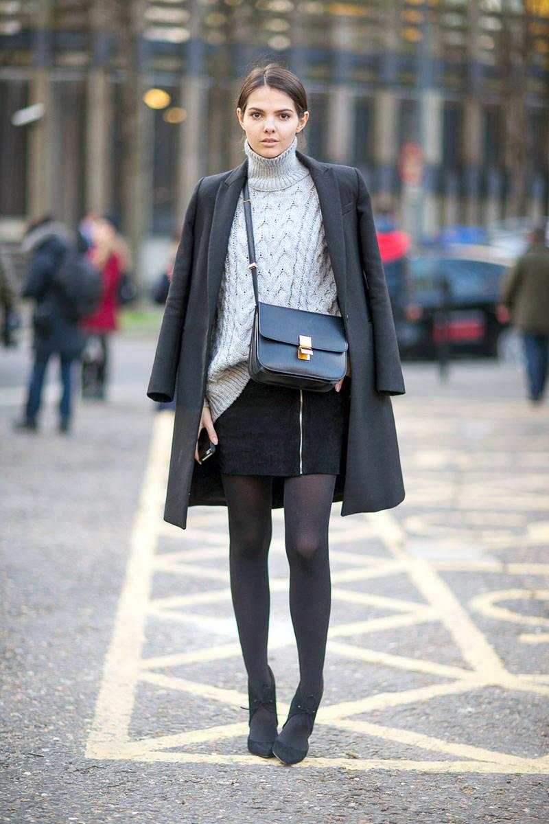 Wear black tights fashion