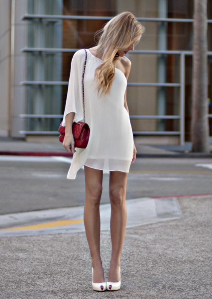 Фото белое платье и туфли