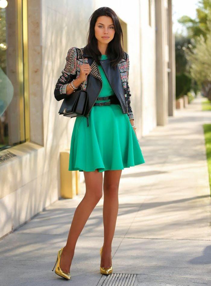 Какие туфли подобрать к зеленому платью
