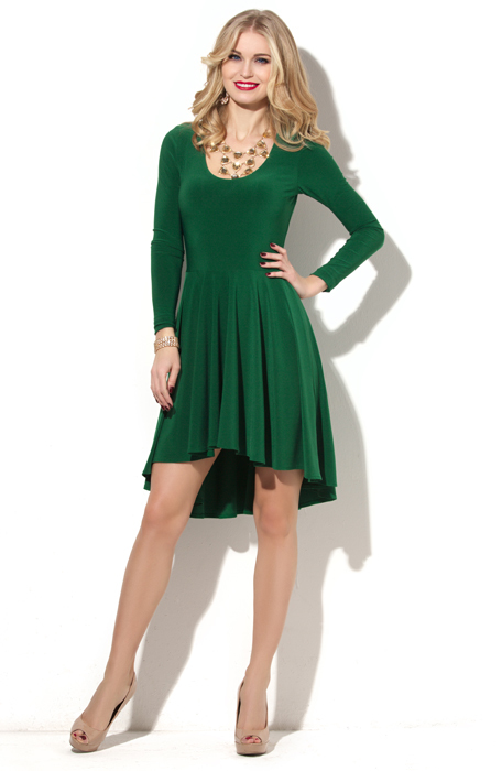 Платья зеленые с бежевым