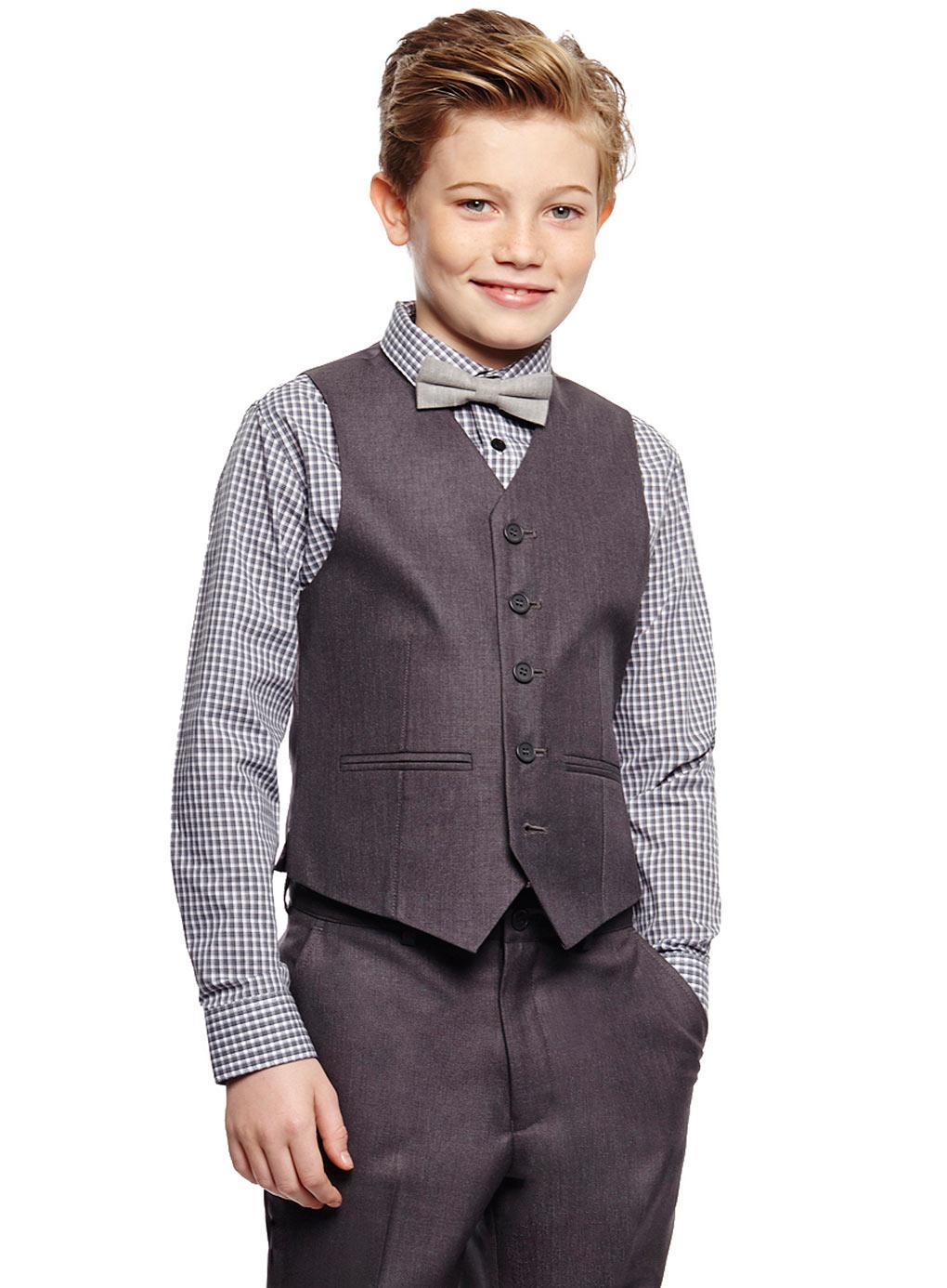 Школьный костюм для мальчика 7-14 лет: пиджак, жилет, рубашка, брюки 102