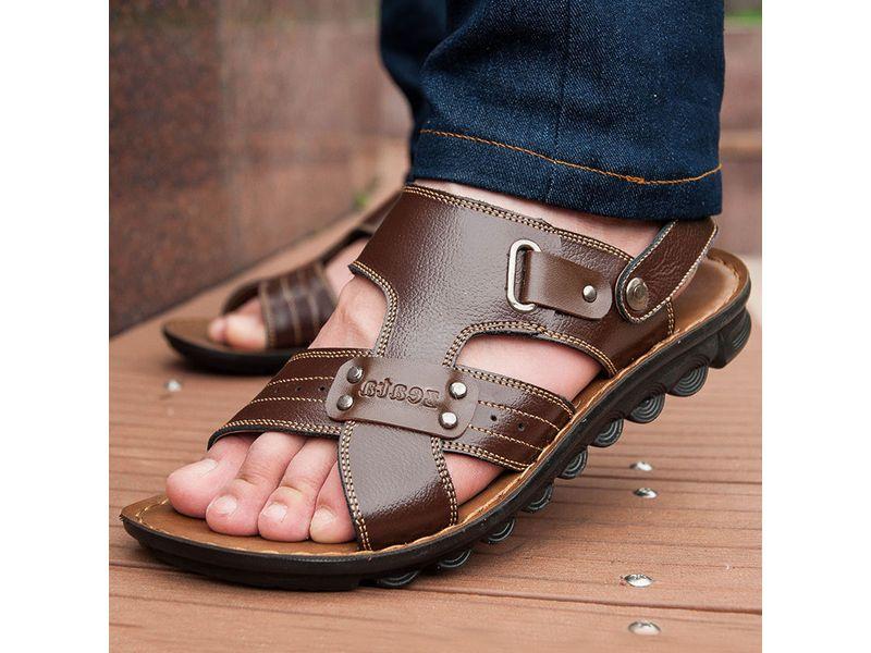 Кожаные мужские сандалии  летние сандали из натуральной кожи 7cdc00cd825b2