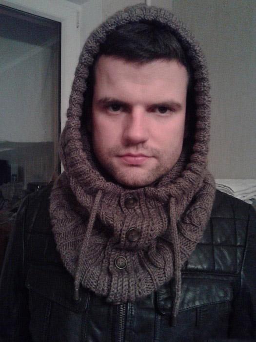 Мужской шарф снуд, хомут и он же труба (60 фото ...