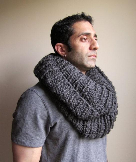 шарф снуд мужской