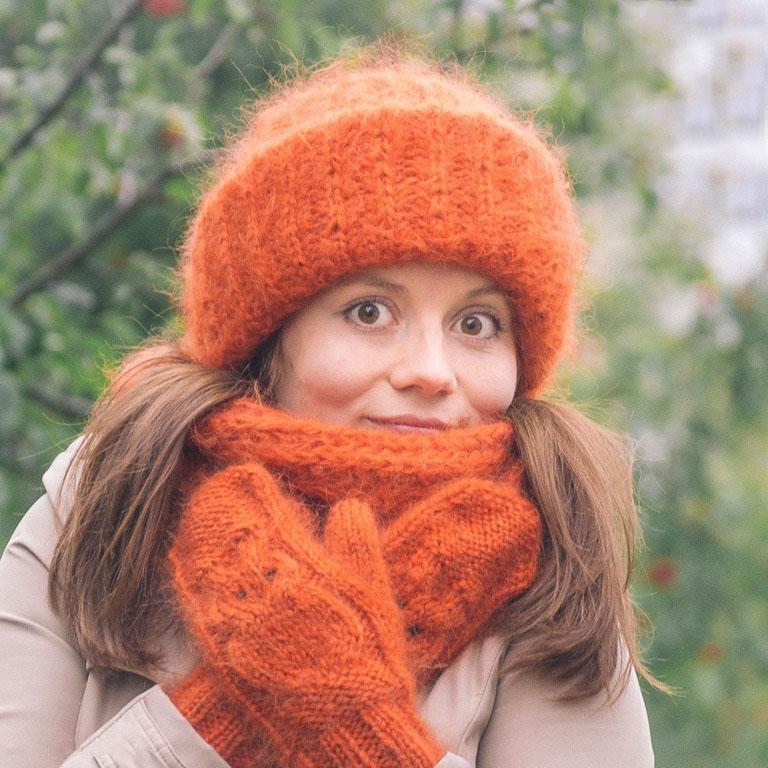 Вязание спицами шапок для женщин из мохера 38