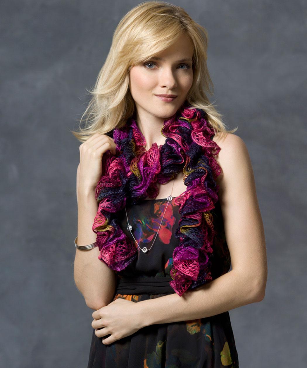 вязание крючком шарф вивьен схема