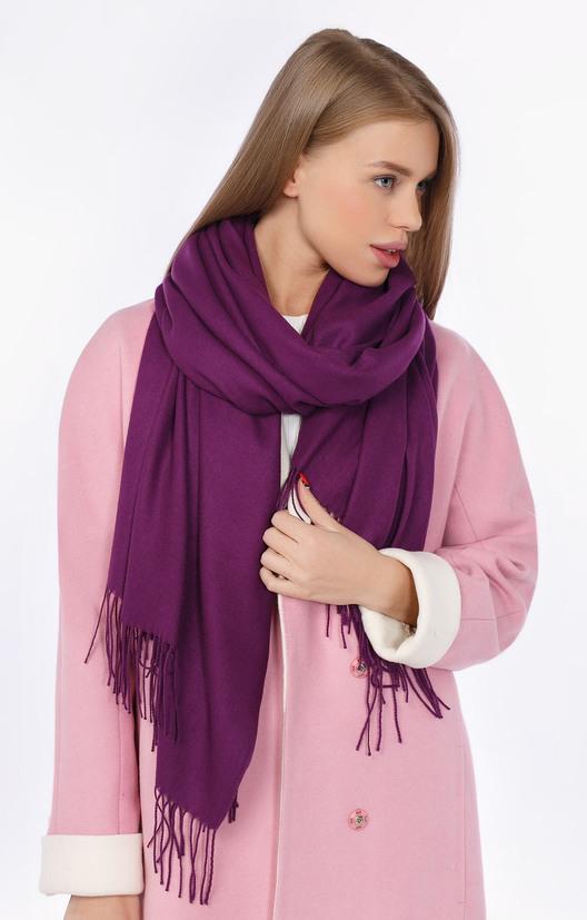 с фото шарф носить фиолетовый чем