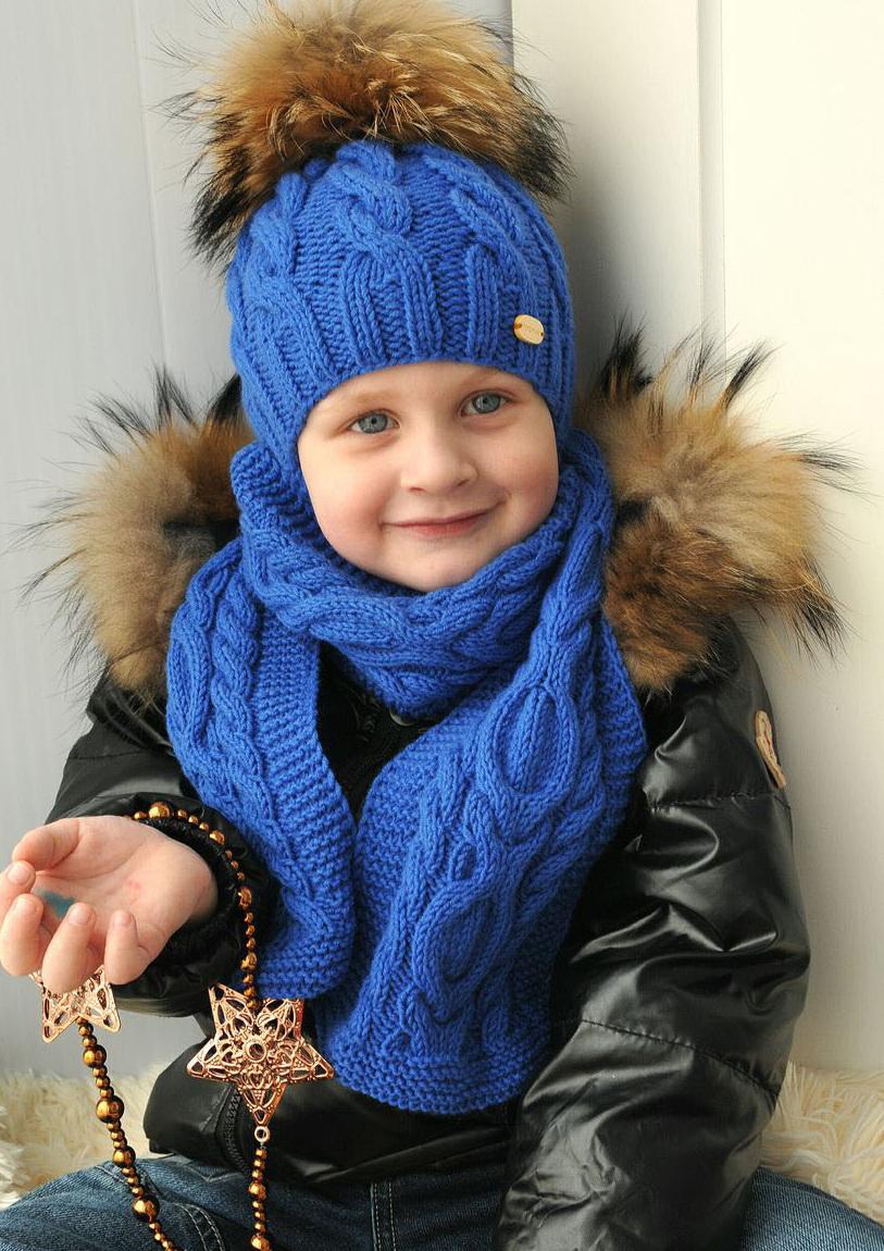 Шапки и шарфы для мальчиков вязание
