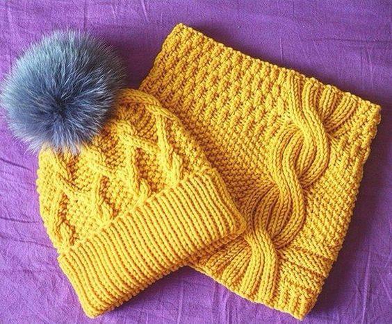 Схемы вязания шарфов 39