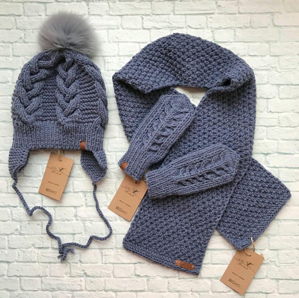 Вязание шапка шарф для мальчика