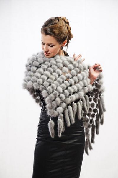 Как сделать шарф из меха