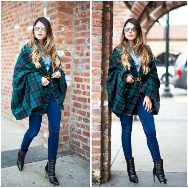 Шарф-плед (53 фото): как и с чем правильно носить большой шарф-плед Zara 939